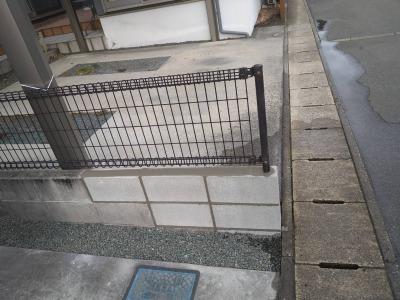 ☆ コンクリートブロック・フェンス修繕工事 ☆